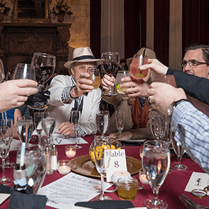 Seattle Murder Mystery guests raise glasses